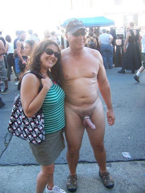 Shemale public erection