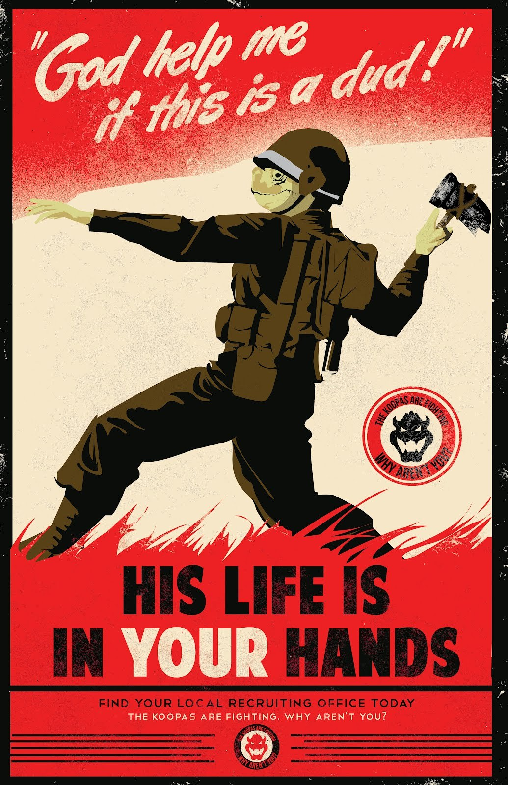 Geek Art Gallery Posters Mario Propaganda