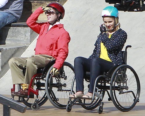 wheelchair glee chiffon chair covers spoiler quinn in unli news daily