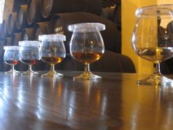 Fundador brandy, also invented here.