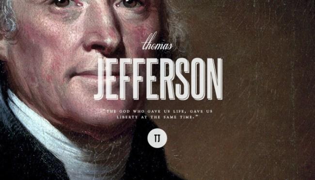 Third President: Thomas Jefferson (1743-1826)