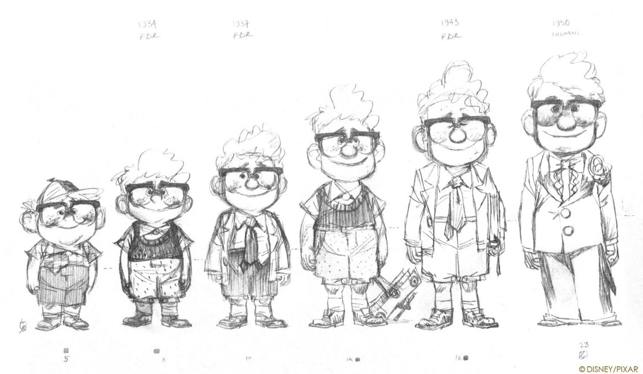 disney design UP Pixar Character mr. fredrickson