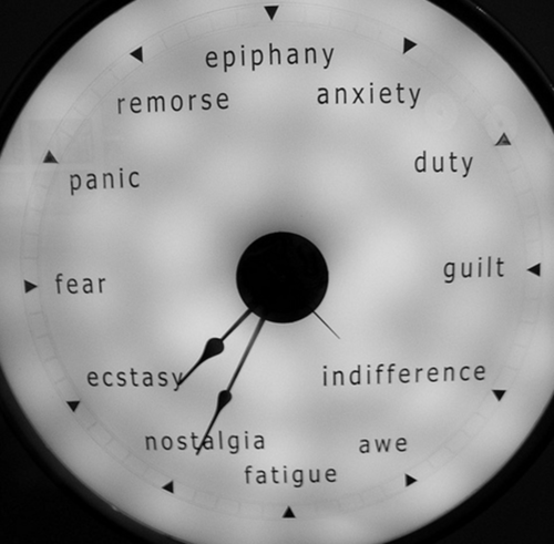 lawgiverz:epiphany, anxiety, panic, duty, fear, awe, indifference, ecstasy, guilt, nostalgia, remorse…