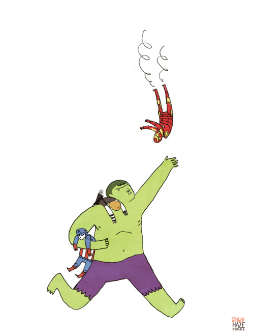HULK TIRED OF CATCH DUTY. AVENGERS NEED STOP FALLING OFF OF THINGS.