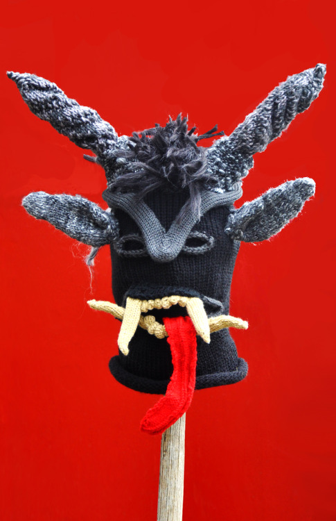 Krampus, handspun yarn, 2012 (commissioned)