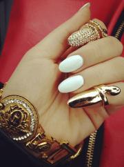 swag dope diamonds nails gold baddestbitch