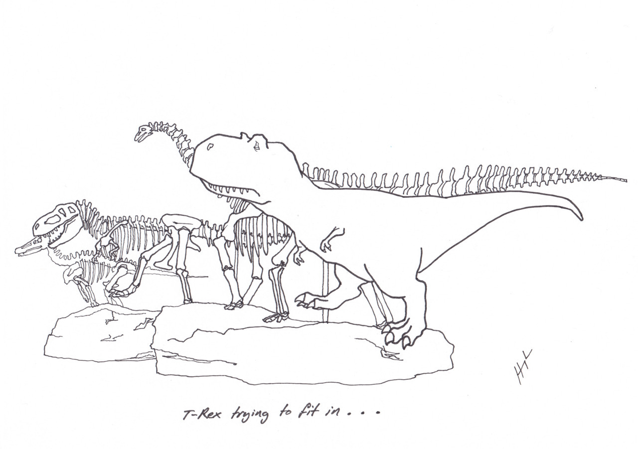 T Rex Trying To Fit In Funny