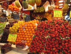 Mountains of fruit up to my eyeballs