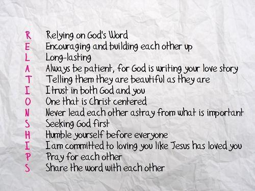 Christ centered relationship verses dating