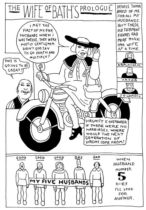POETS.org // Geoffrey Chaucer, explained. Art/adaptation by...