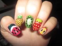 fruit nail art on Tumblr