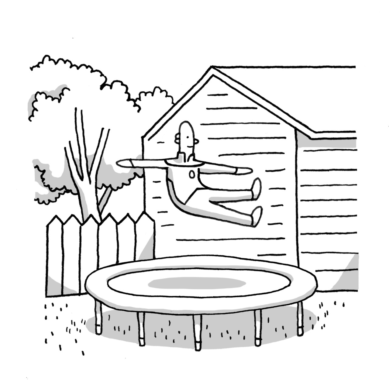 Trampoline Coloring Pages
