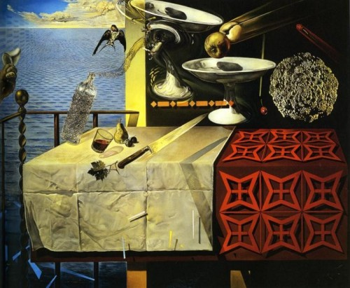 Still Life, Fast Moving, 1956; by Salvador Dali