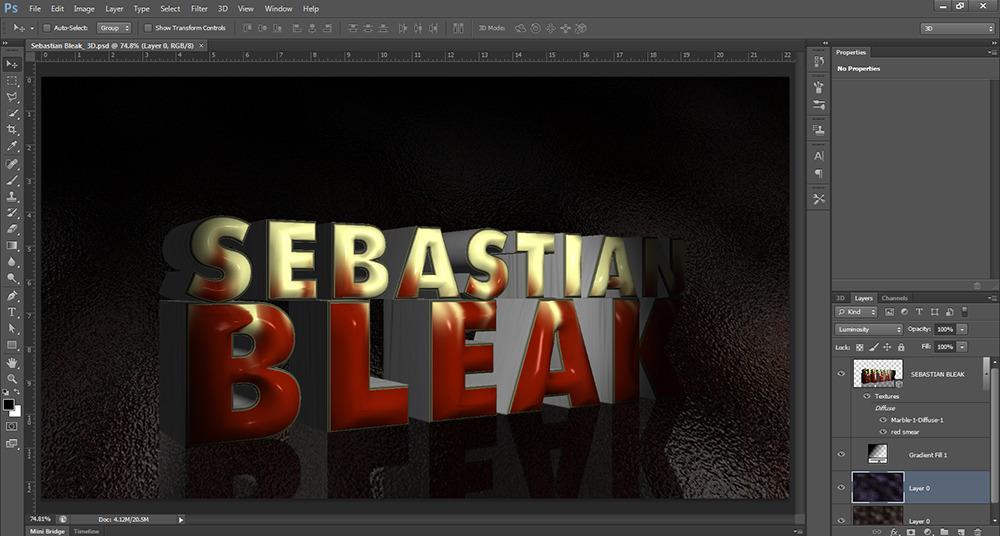 Editable 3D Text