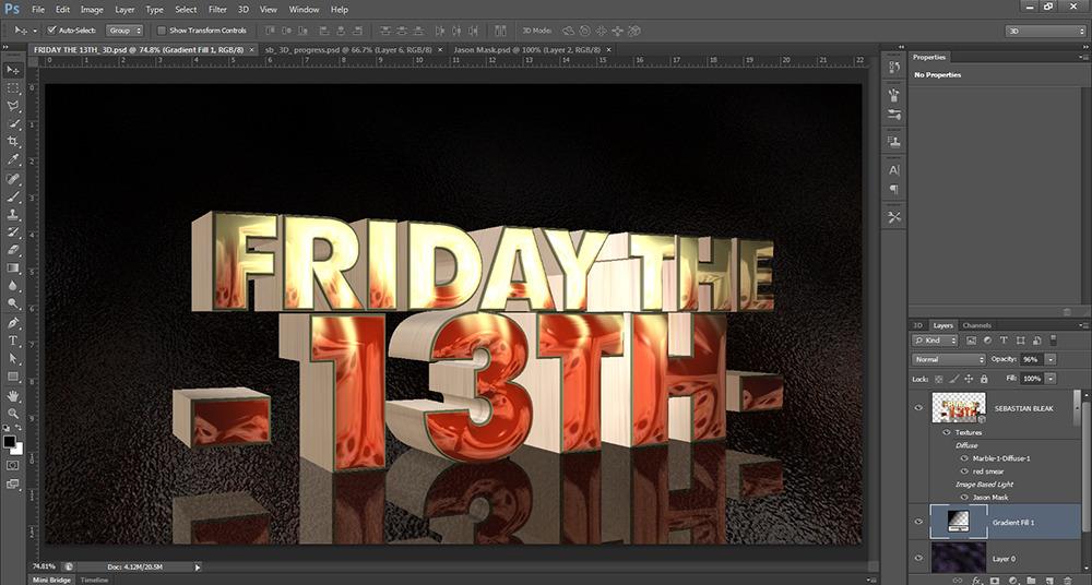IBL 3D text photoshop cs6