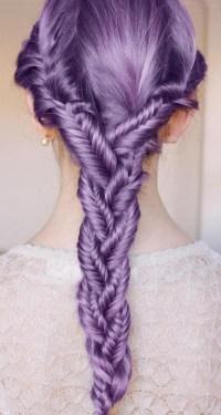hair purple braid braids lilac star-filled