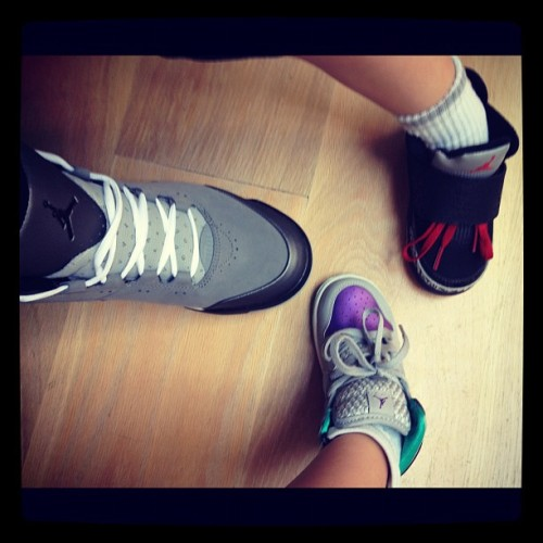 A family that rocks J's together stays together!  (Taken with Instagram)