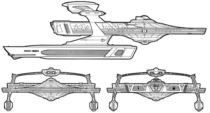 Starfleet ships • Miranda-class USS Reliant starboard