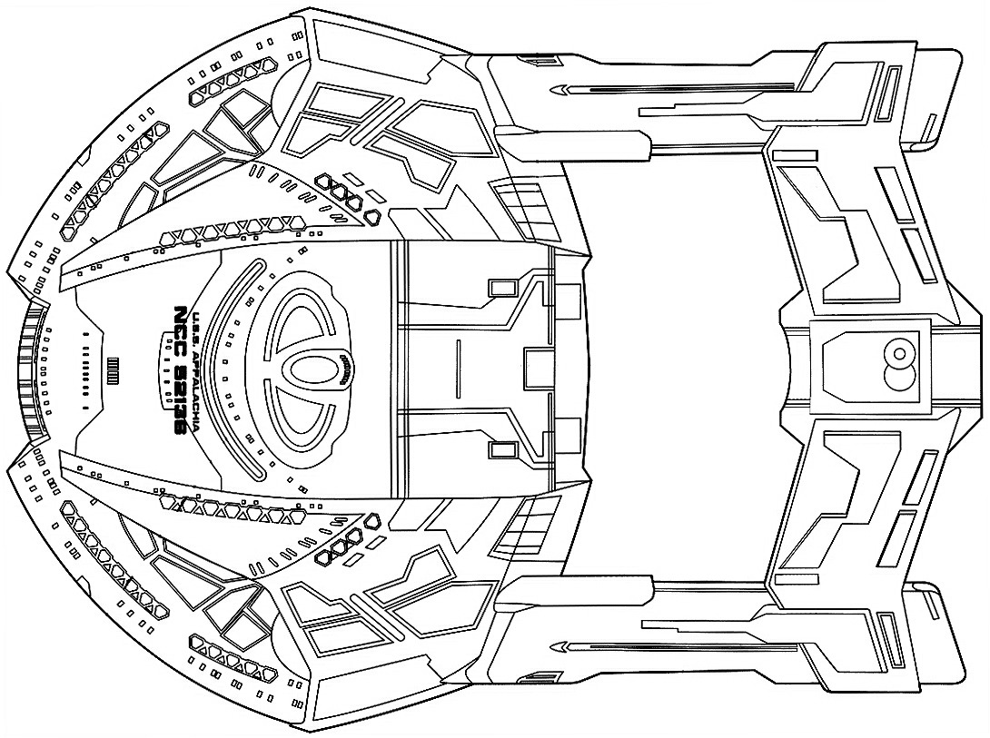 Starfleet ships • dorsal schematic for the Steamrunner class