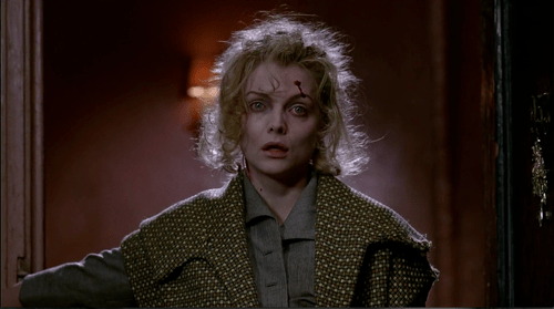 Michelle Pfeiffer is hurt and crazed looking.