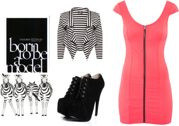 Striped Jackect by natz-the-rebel featuring a striped jacket