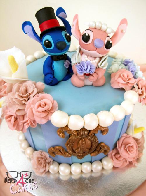 Stitch And Angel Wedding Cake