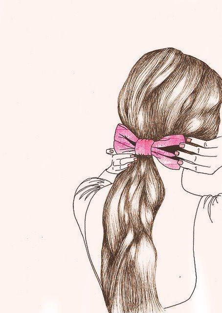 Hair Bow Drawing : drawing, Drawing, Milkmakesmepuke