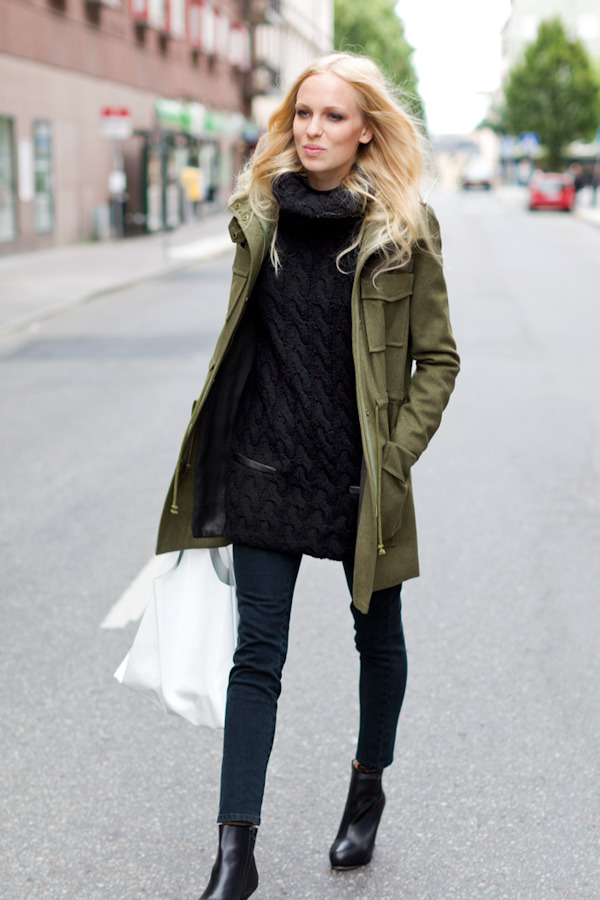 Army Coat, Wool Knit Gillet, Emerson Denim Charcoal, Emerson Shopper White Patent Leather, Emerson Black Boot Click to sign up!