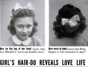 hair vintage high school bows teens