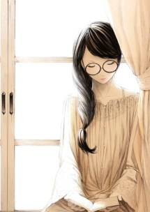 Books And Art Anime Girl With Nerdy Glasses Reading