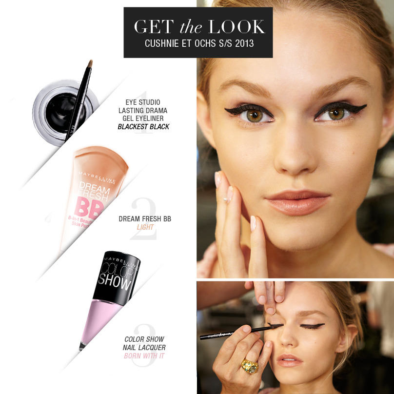 maybelline:</p> <p>Recreate this runway look from Cushnie et Ochs.<br />