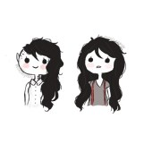 curly hair doodles