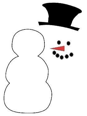 FACE PATTERN SNOWMAN