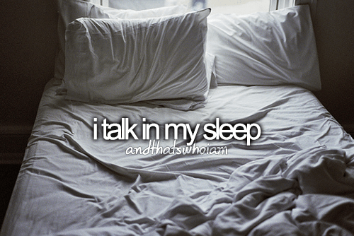 talk in sleep