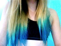 What color dip-dye would look good with dirty-blonde hair ...