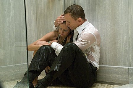 Vesper Lynd Casino Royale Daniel Craig crying shower