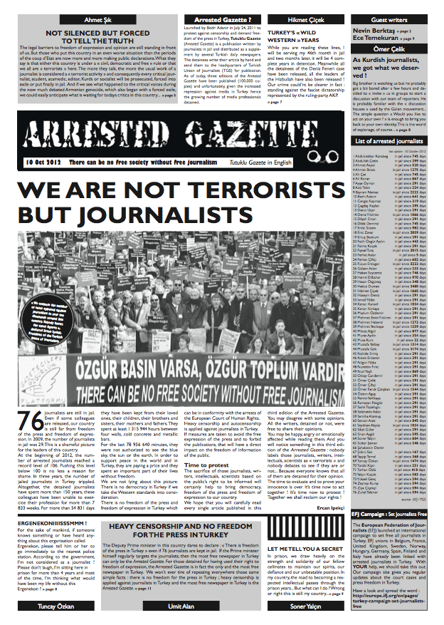 Arrested Gazette