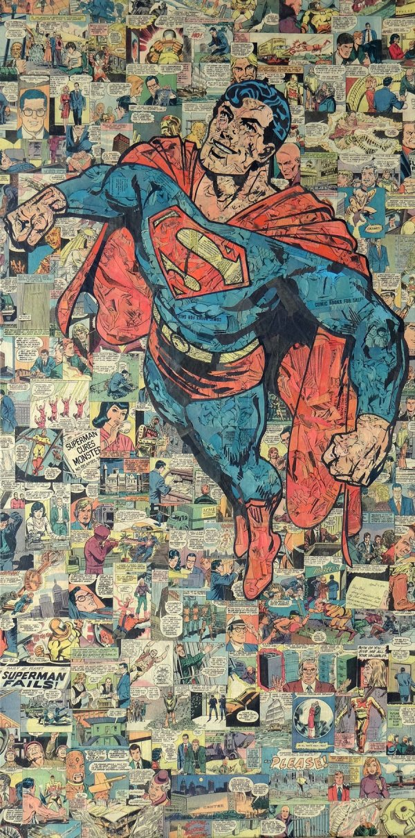 Geek Art Papercraft Collages Comics