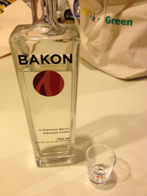 Decided to have a (small) Bakon Vodka shot for every state Romney wins. Because both will make me unhappy.