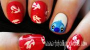 totally cool nails - lilo and stitch