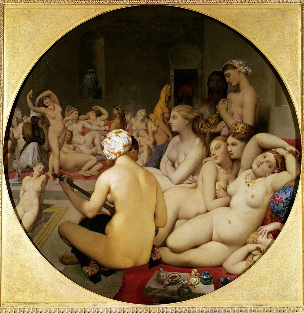 The Turkish Bath (1862) by Jean Auguste Dominique Ingres