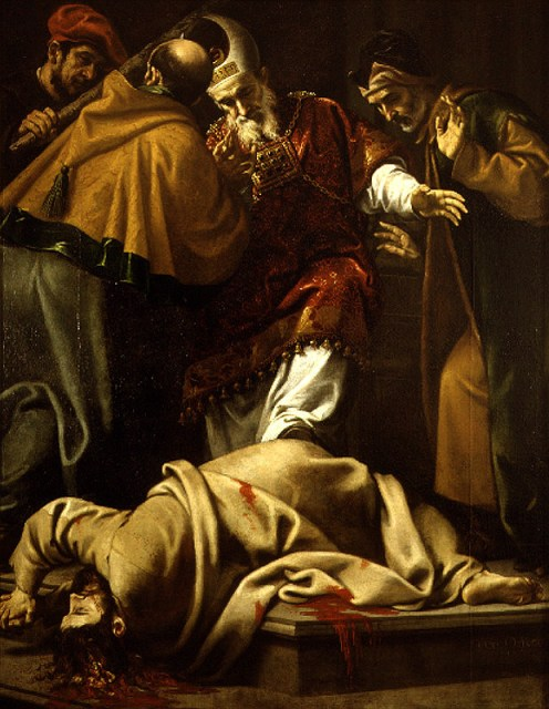 Pedro Orrente Martyrdom of Saint James the Less (1639) Museum of Fine Arts of Valencia, Spain