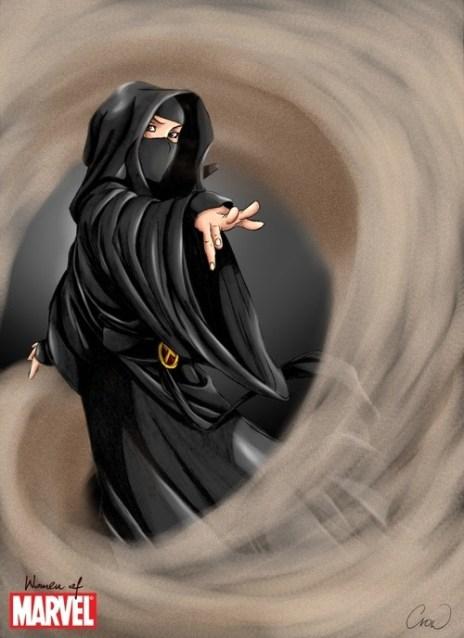 Dust X-Men, Muslimah asal Afghanistan