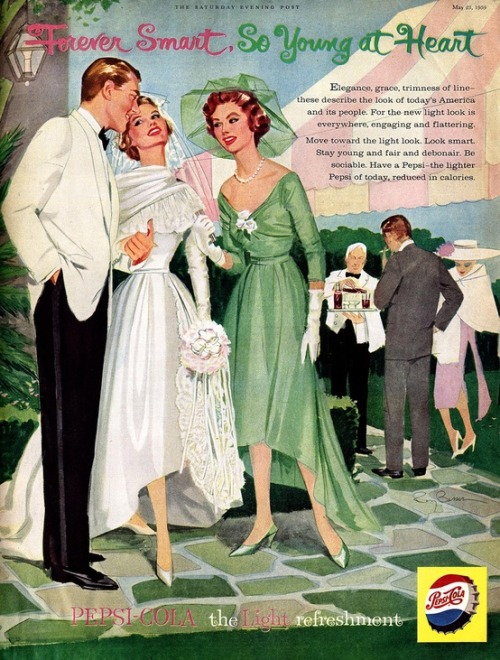 1958 Pepsi-Cola advertisement.
