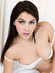 A downblouse portrait of Valentina Nappi