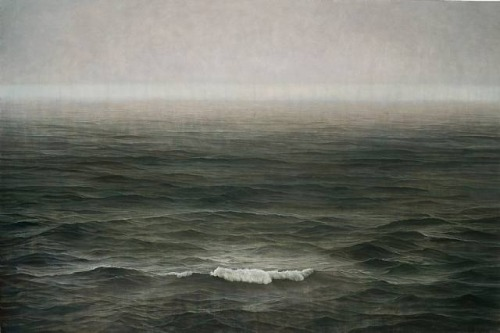 Tzu-Chi Yeh 葉子奇 - Typhoon Approaching. Oil over tempera on linen, 200x300 cm (2007-09)