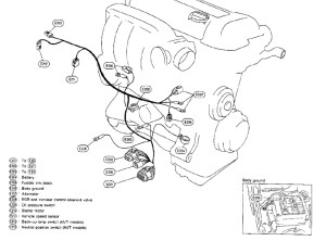 SR20DET Lower harness layout | The Ultimate 240SX Guide