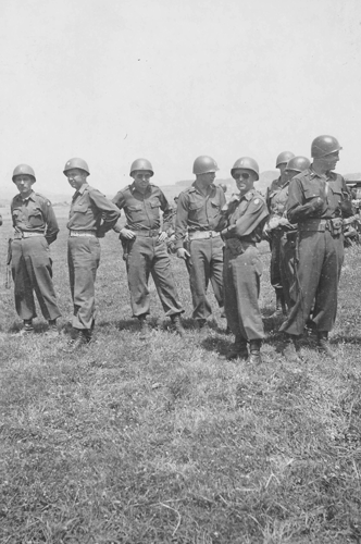 62. Cham Germany Parade Day, 10-May to 11 July 1945. L to R