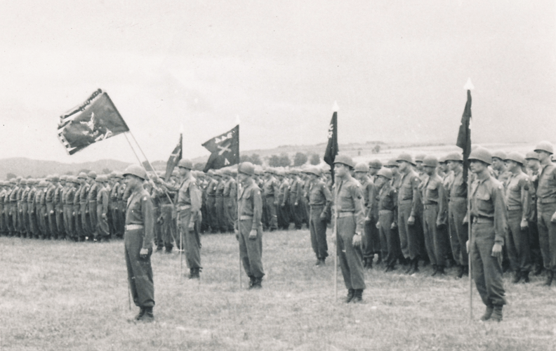 65. Attention. Cham Germany Parade May 1945