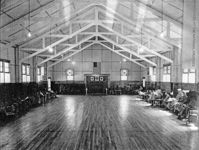 430. Dance Hall inside the Service Club at Camp Shelby Mississippi